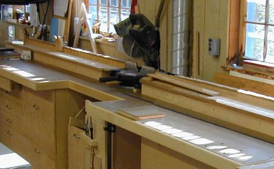 The Master Woodbutcher S Shop Built Miter Saw Bench